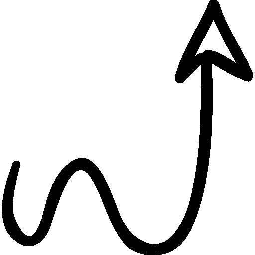 Website arrow squiggly up minimalist design