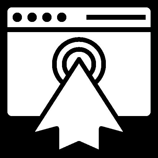 Pay Per Click PPC Icon White